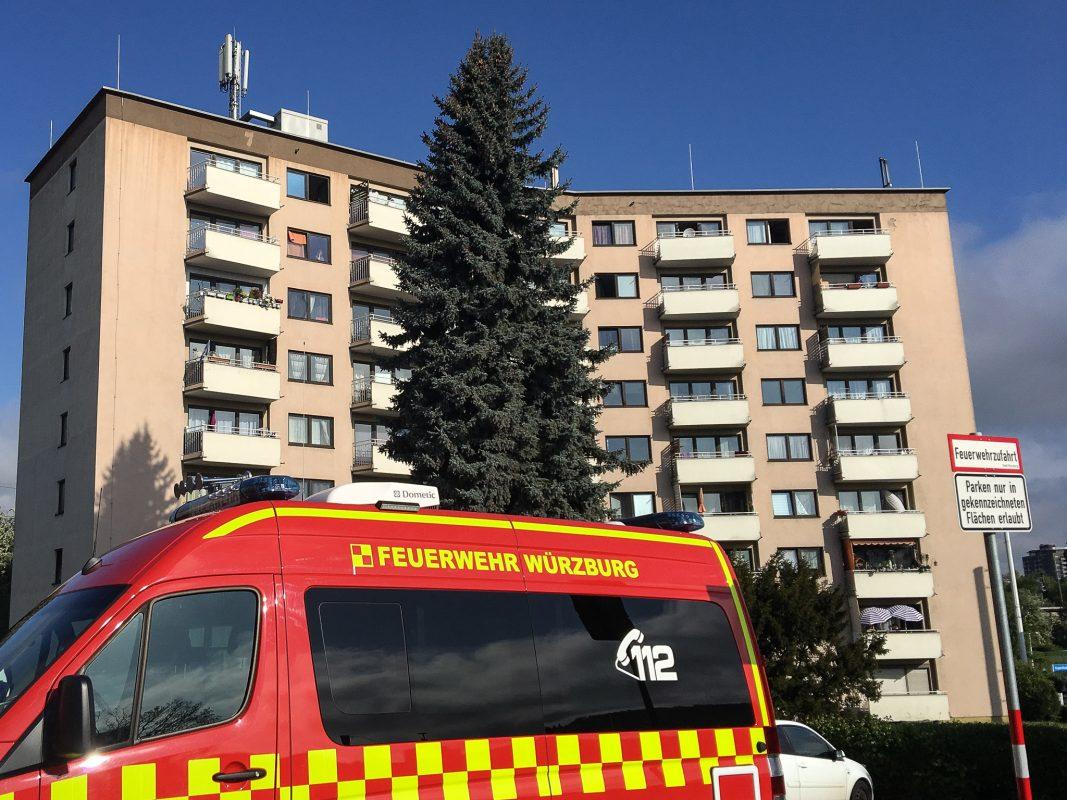 Die Feuerwehr in der Mergentheimer Straße. Foto: Pascal Höfig