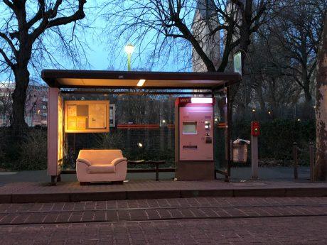 Neue VIP-Warteplätze an Würzburger Haltestellen. Foto: Frederik Löblein