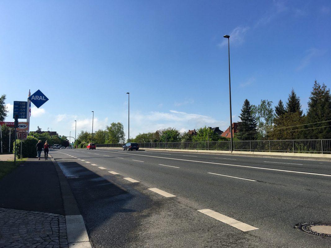 Kantstraße / B19 in Würzburg. Foto: Pascal Höfig