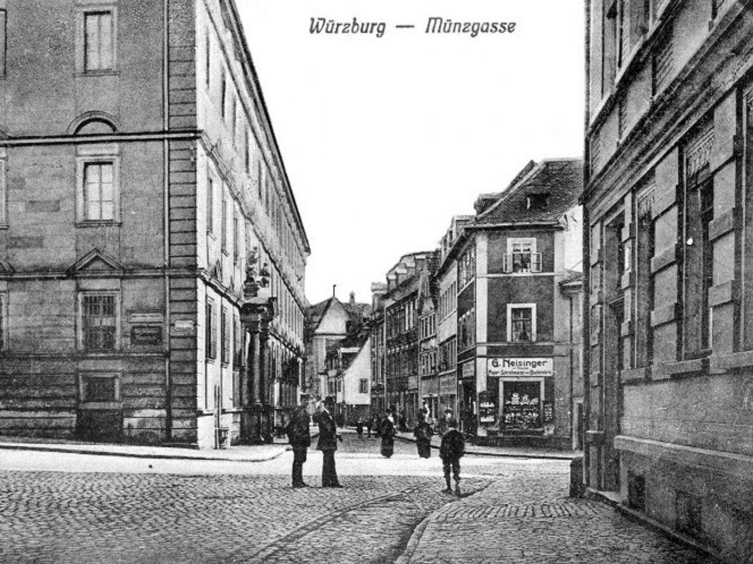 Blick auf die Münzstraße im Jahr 1909. Archiv: Willi Dürrnagel