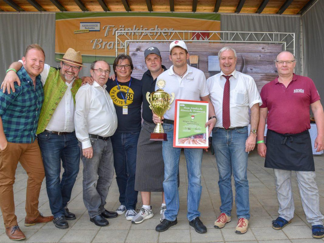 Bratwurstkönig 2018 Stephan Jamm aus Markt Einersheim. Foto: Handwerkskammer Oberfranken