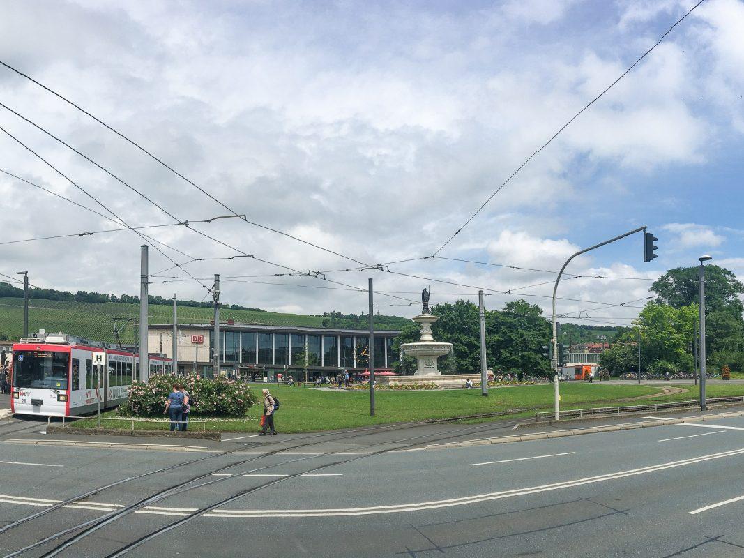 Der Würzburger Hauptbahnhof. Foto: Pascal Höfig