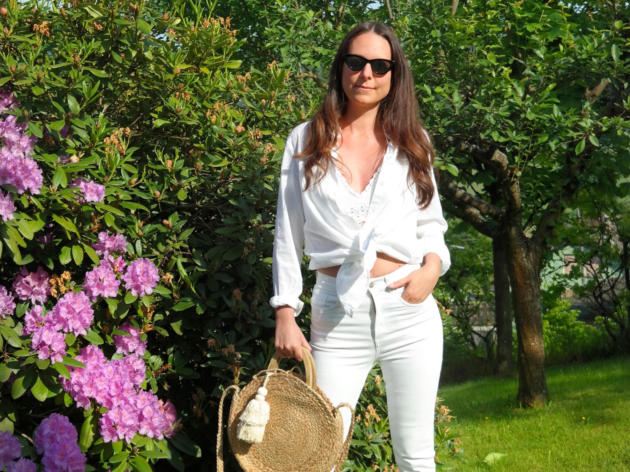 Sabrinas Outfit für die White Party. Foto: Sabrina Fischer