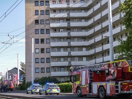 Brand in der Mergentheimer Straße in Heidingsfeld. Foto: Pascal Höfig