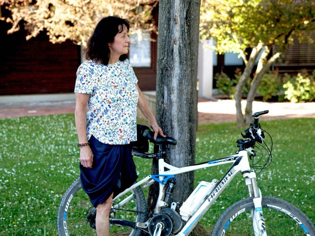 """Martina hat das """"One Leg Power Team"""" gegründet. Fotoquelle: Lara Engelmann"""