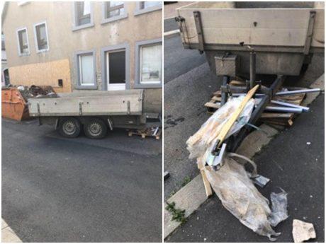 Der Eigentümer des Anhängers hat eine Belohnung von mittlerweile 1.000 Euro für Hinweise ausgelobt, die zur Feststellung des Unfallflüchtigen führen. Foto: Privat