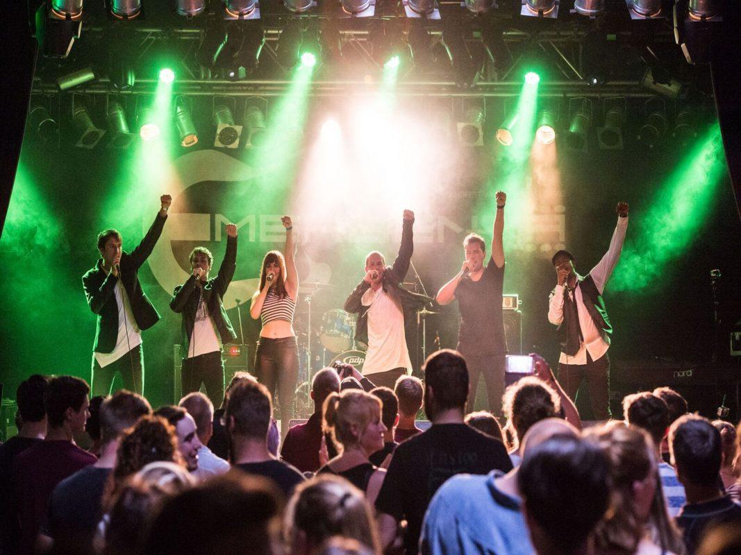 B'n'T rockt die Bühne. Am 29. Juni auch in Rottendorf. Foto: Jonas Strasser