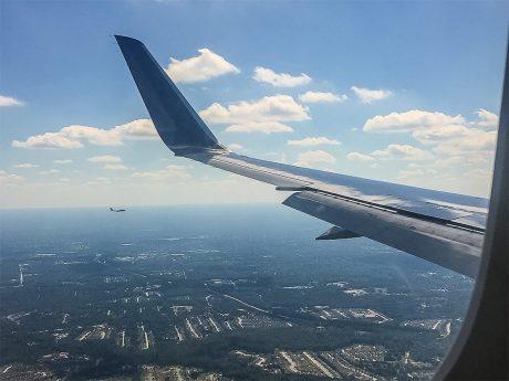 Blick aus dem Flugzeug. Foto: Pascal Höfig