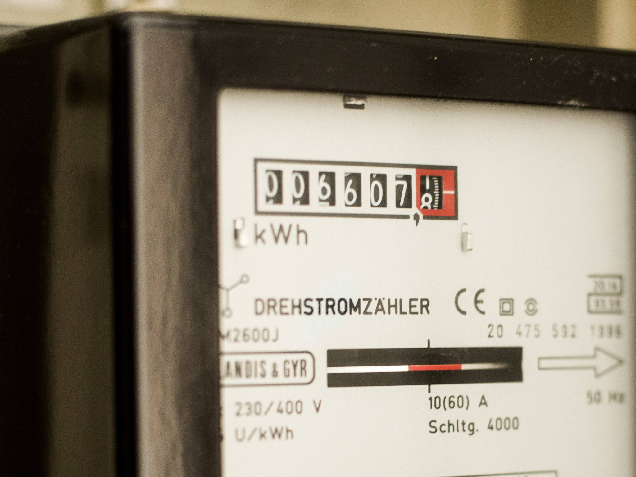 Stromzähler. Symbolfoto: Pascal Höfig
