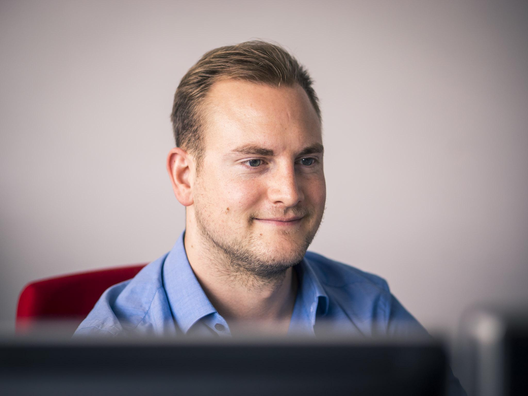 Dominic stellt sich den Herausforderungen der Digitalisierung. Foto: Dominik Ziegler