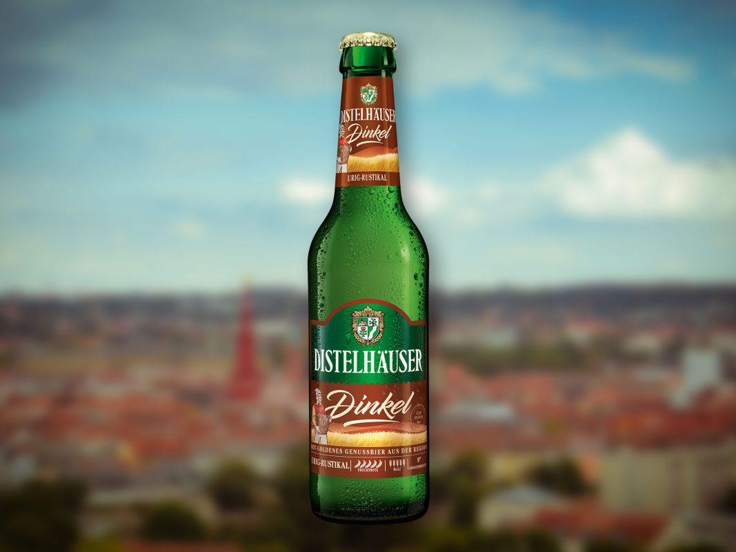 Das Dinkelbier der Distelhäuser Brauerei. Grafik: Dominik Ziegler
