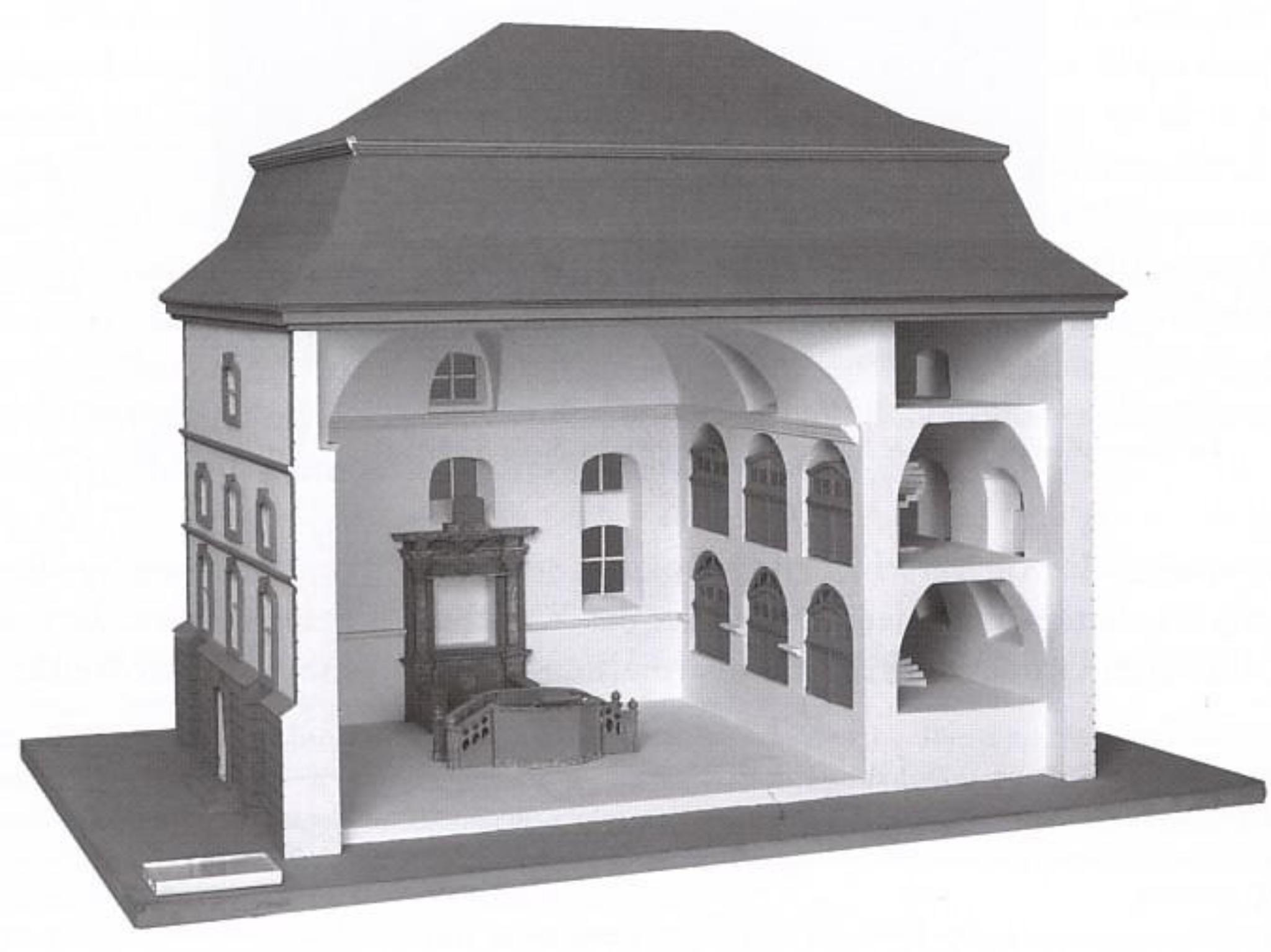 Ein Querschnitt der Heidingsfelder Synagoge. Archiv: Willi Dürrnagel