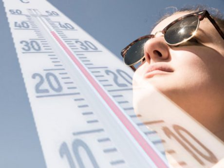 Symbolbild Hitze und Thermometer. Foto: Pascal Höfig.