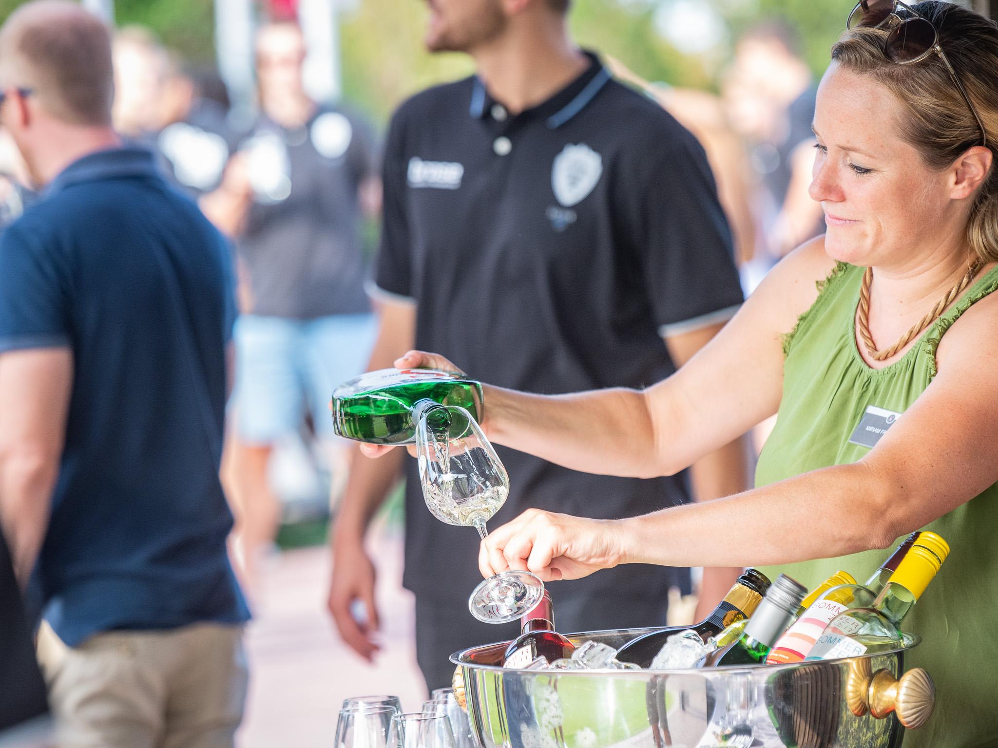 Leckerer Frankenwein zum Golfen. Foto: Pascal Höfig