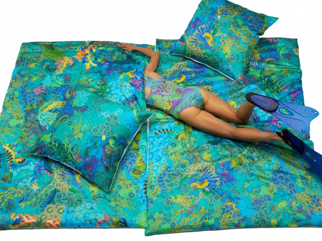 Verena Rempel möchte mit ihrer Bettwäsche den Grüne Helden Förderpreis gewinnen. Foto: Verena Rempel