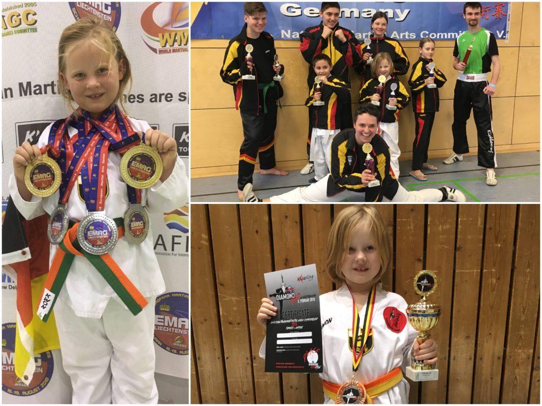 Die kleine Hana ganz groß: Hana Stark mit ihren Auszeichnungen. Fotos: Helmut Stark