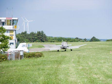 Der Flugplatz am Schenkenfeld bei Veitshöchheim. Foto: Pascal Höfig
