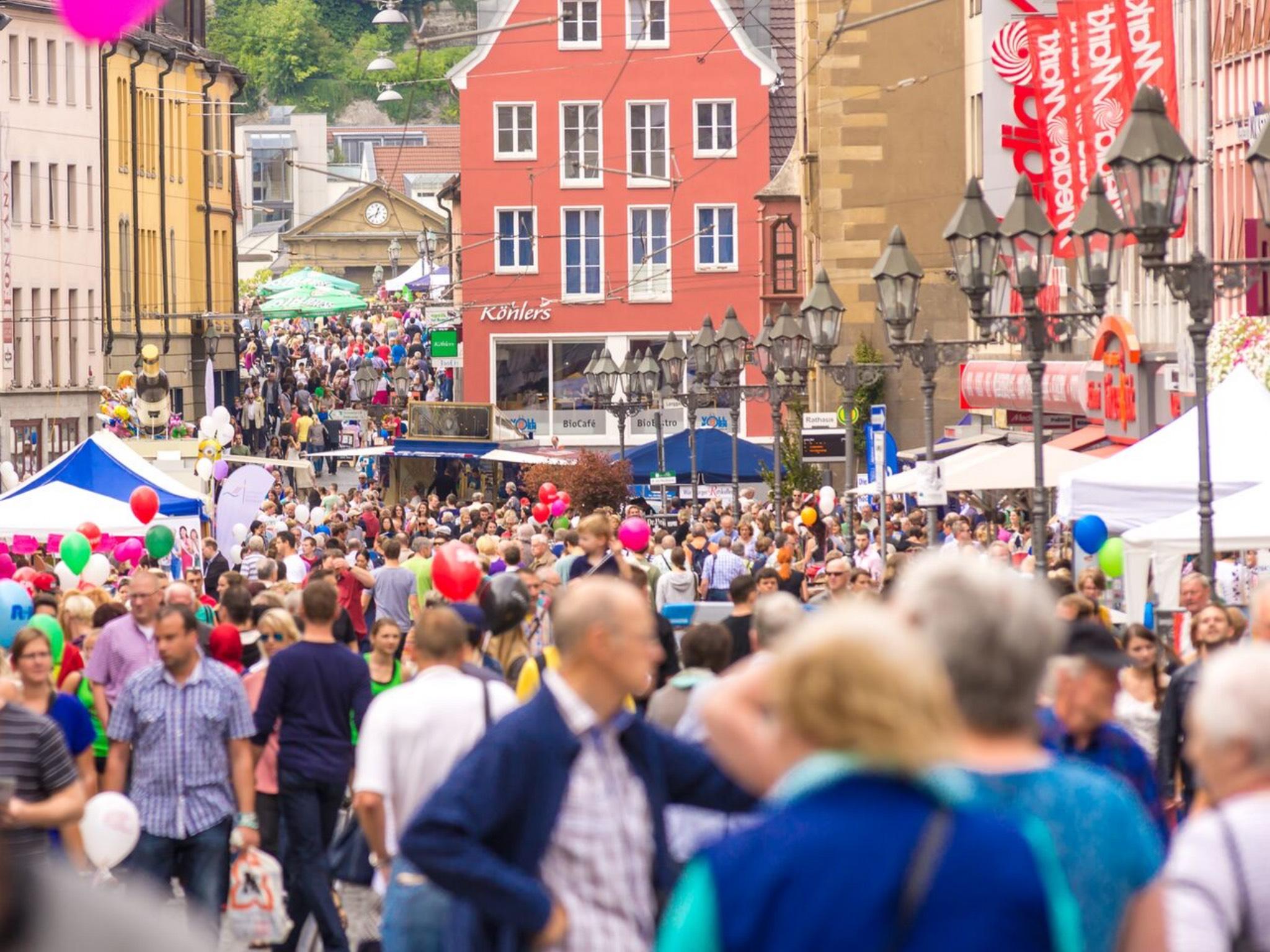 Das Stadtfest in der Würzburger Innenstadt. Foto: Pascal Höfig