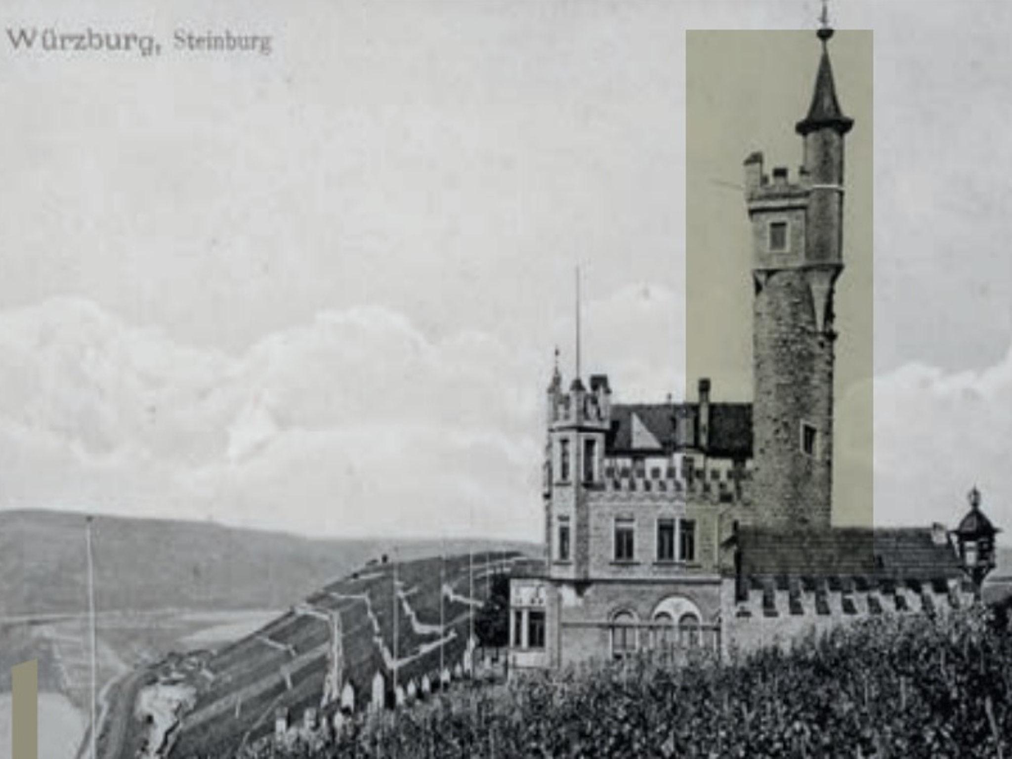 Die Steinburg um 1900. Foto: Schloss Steinburg