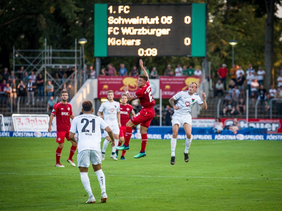 Toto-Pokal-Spiel FC Würzburger Kickers gegen 1. FC Schweinfurt 05. Foto: Pascal Höfig