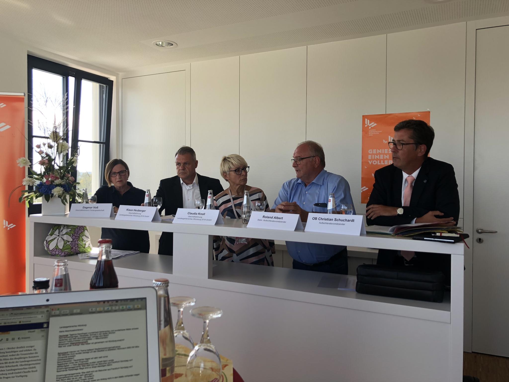 Pressekonferenz der Landesgartenschau-Verantwortlichen am 11. September 2018. Foto: Sarah Willer