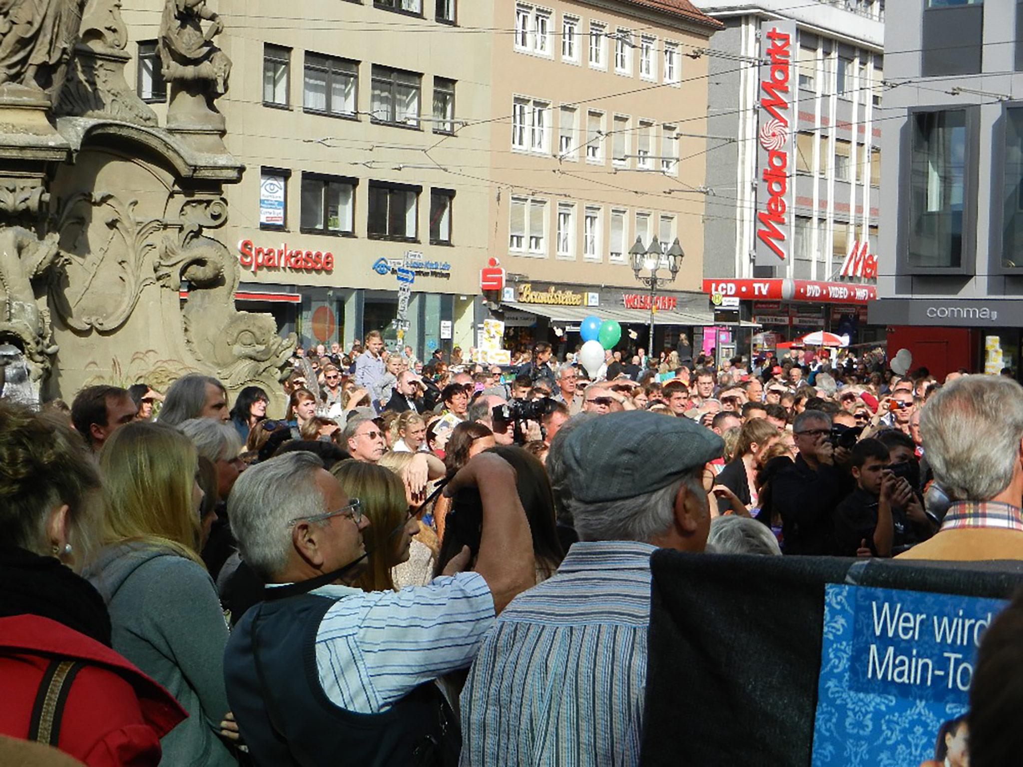 Blick von der Main-Post Bühne. Foto: Andreas Kneitz
