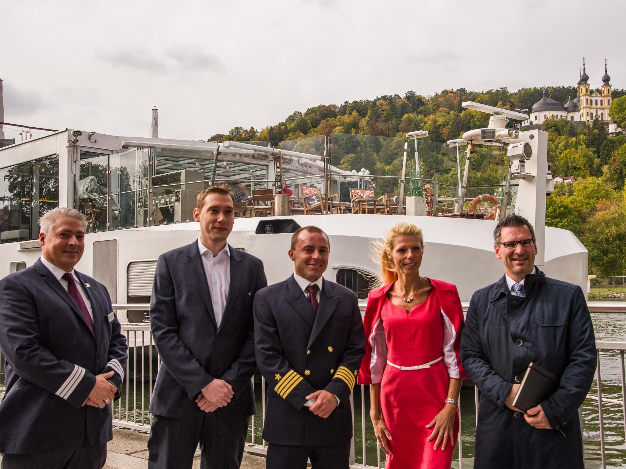 Die Crew des Kreuzfahrtschiffes wurde in Würzburg begrüßt. Foto: Pascal Höfig