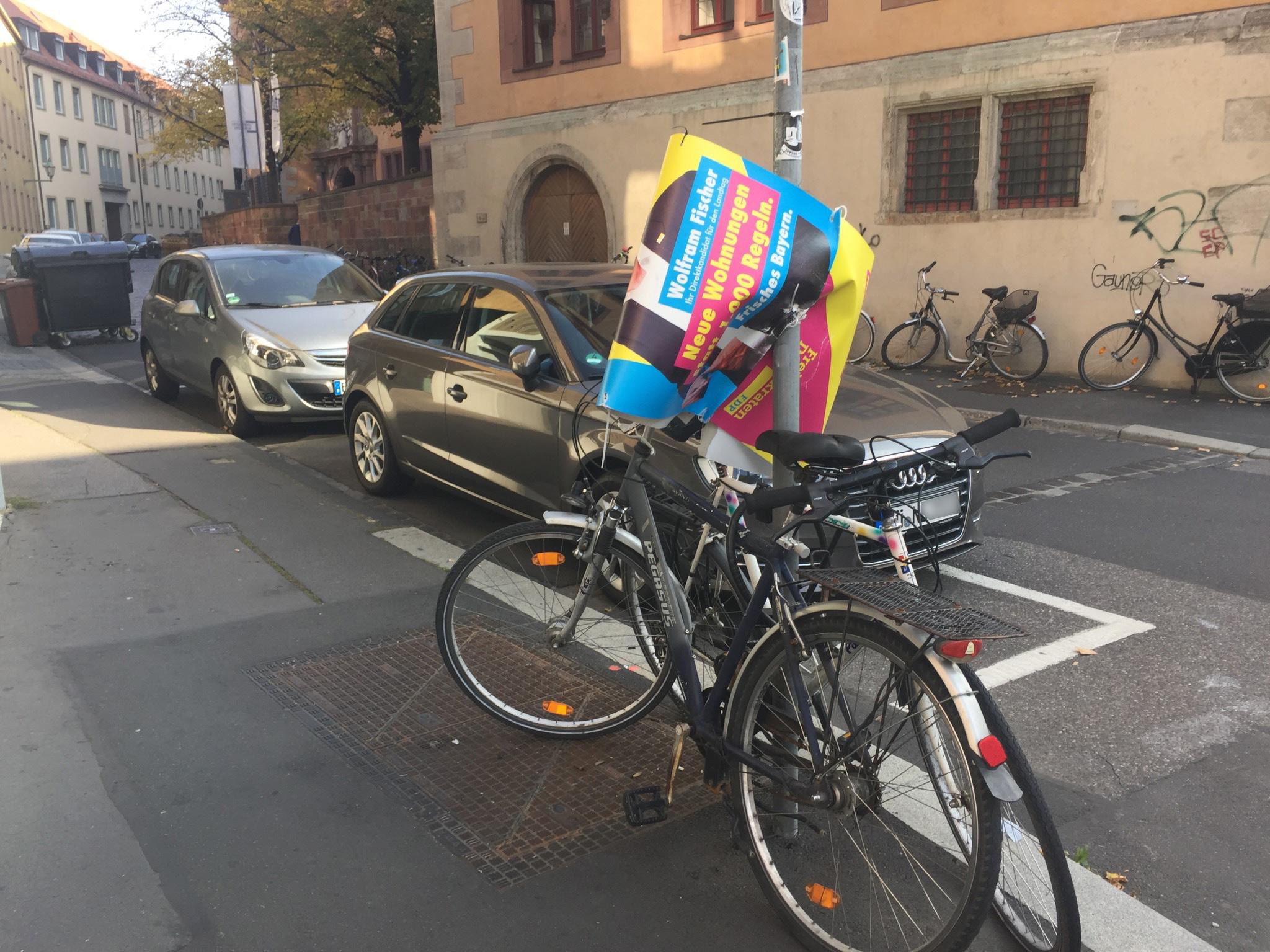Beschädigte Wahlplakate 2018. Foto: Katharina Kraus