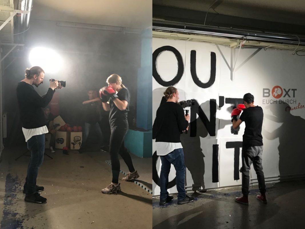Nils Pieper bei den Dreharbeiten für den Impactfilm. Foto: Michaela Schubert