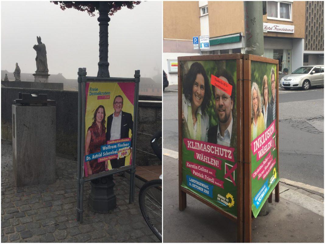 Noch immer hängen in der Stadt Wahlplakate. Fotos: Katharina Kraus
