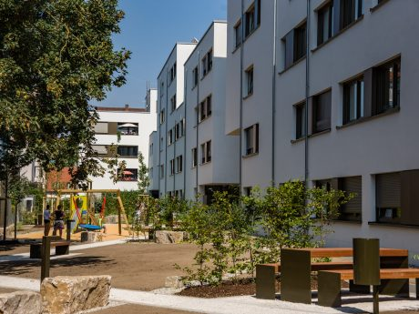 Die Wohngebäude des St. Bruno-Werk in der Gartenstraße in der Sanderau. Foto: Pascal Höfig