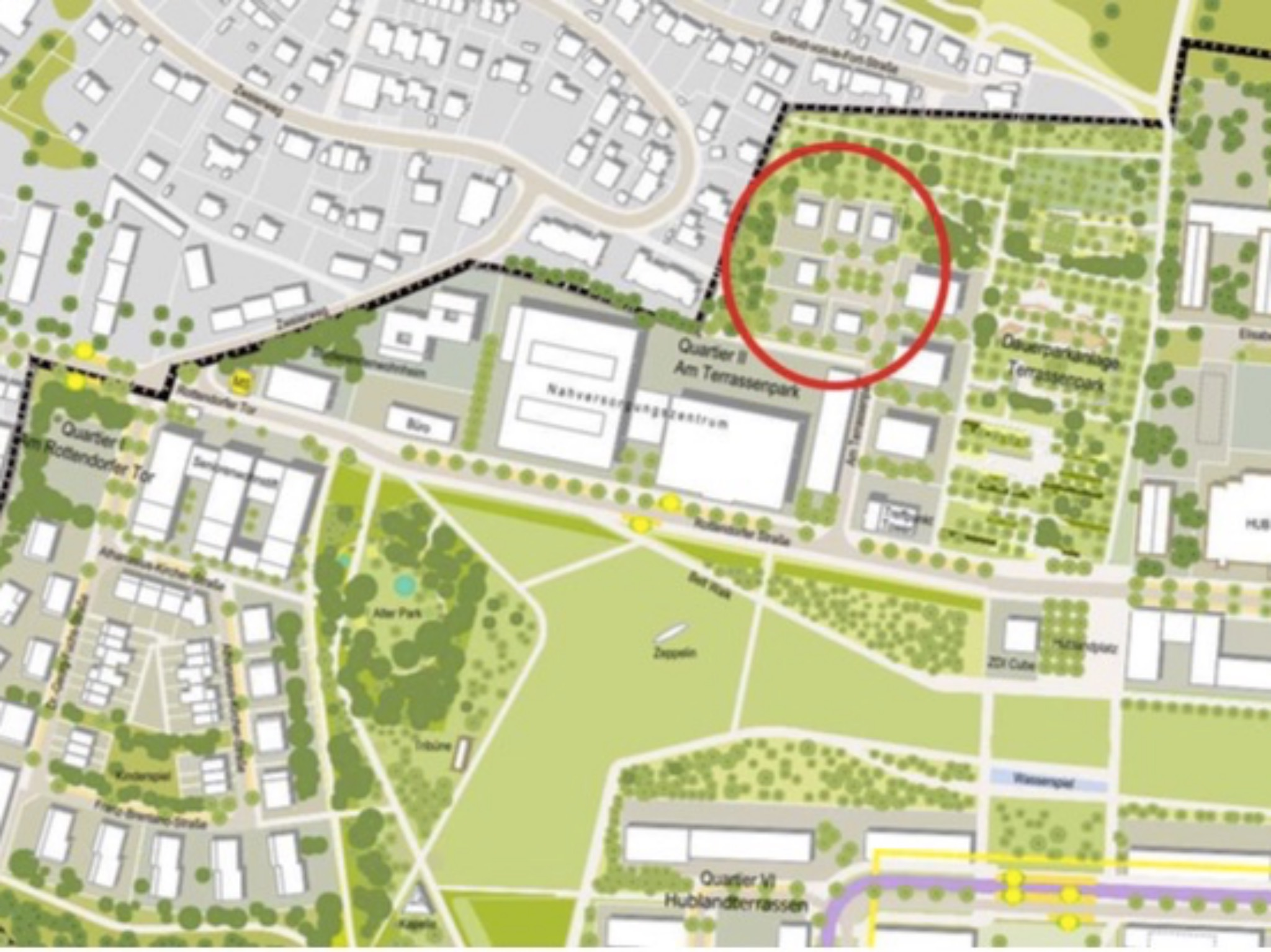 Neue Bauplätze am Hubland. Grafik: Stadt Würzburg