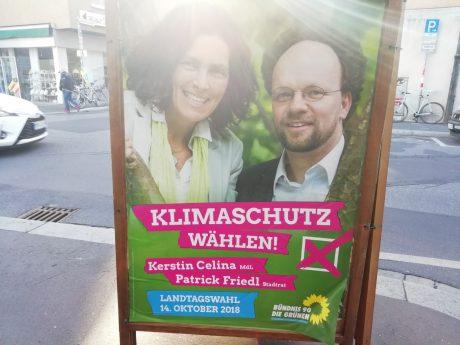 Grünen-Stadtrat Patrick Friedl auf einem Wahlplakat. Foto: Katharina Kraus
