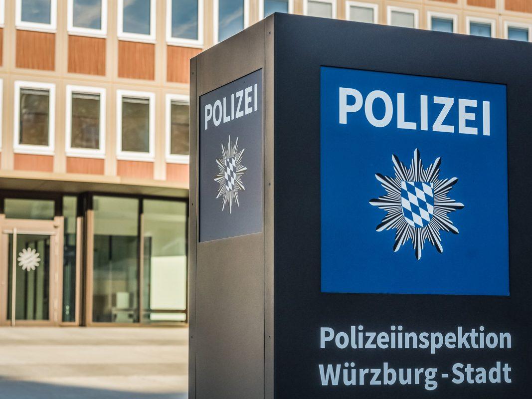 Die Polizeiinspektion Würzburg-Stadt in der Augustinerstraße. Foto: Pascal Höfig