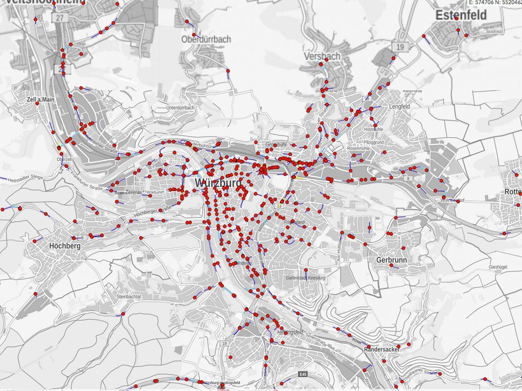 Wo passieren in meiner Stadt die meisten Verkehrsunfälle? Wo bin ich auf meinem Weg zur Arbeit besonders gefährdet, welche Kreuzungen oder Autobahnabschnitte sind besonders unfallträchtig? Screenshot: Statistisches Bundesamt