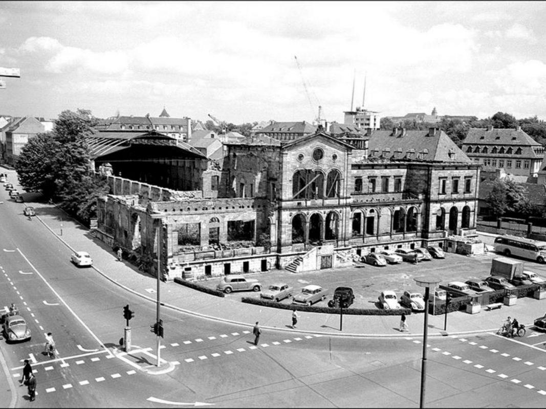 Der Ludwigsbahnhof im Jahr 1958. Foto: Archiv Willi Dürrnagel