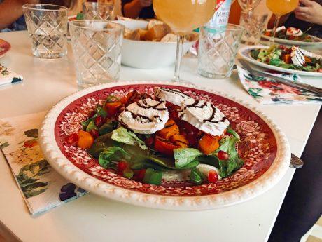 Unsere Vorspeise beim Campus Dinner. Foto: Sarah Willer