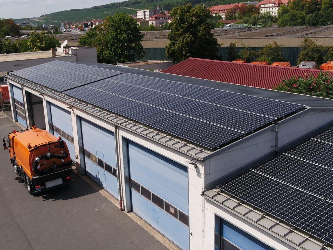 Neue Solaranlage der WVV. Foto: WVV