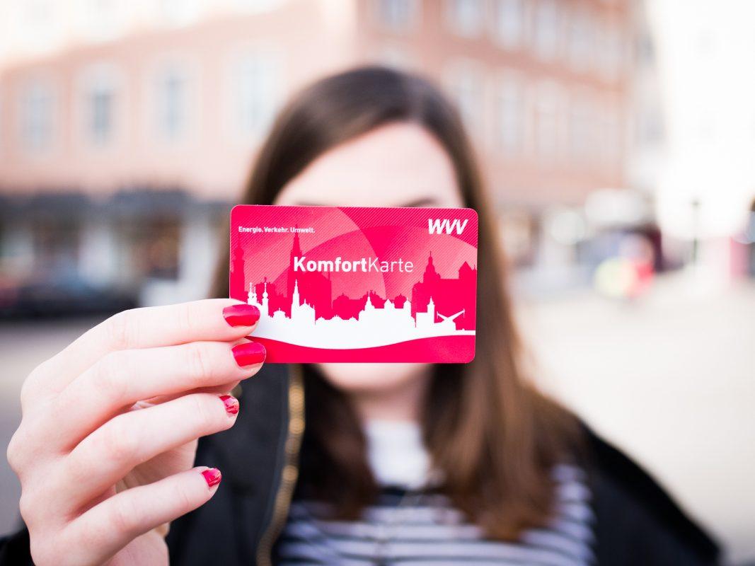 Die WVV Komforkarte. Foto: Pascal Höfig