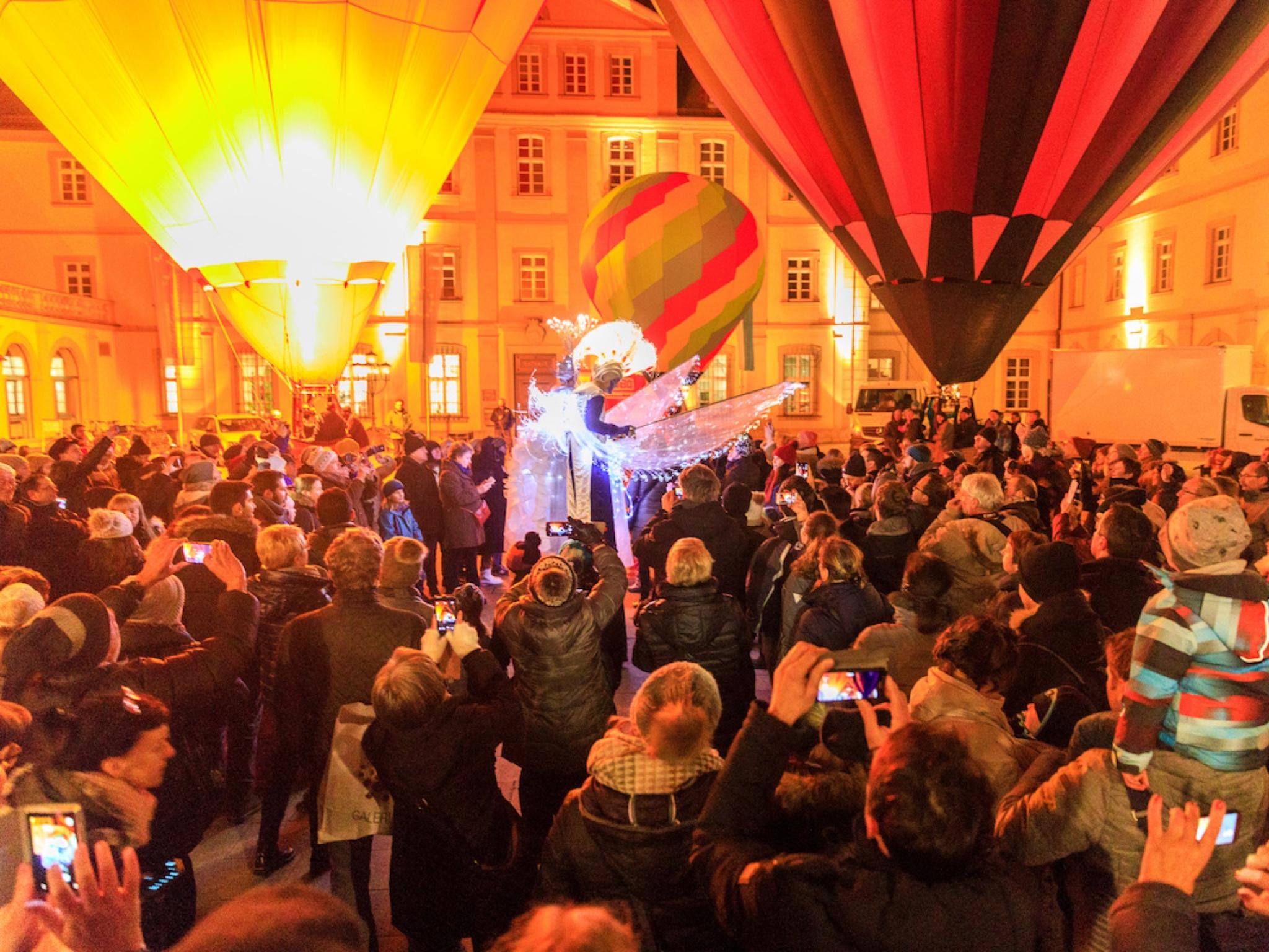 Die Innenstadt hell erleuchtet. Foto: Würzburg, macht Spaß