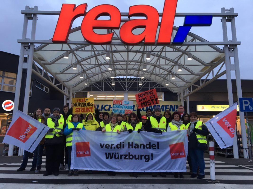 Streik des ver.di Handels Würzburg