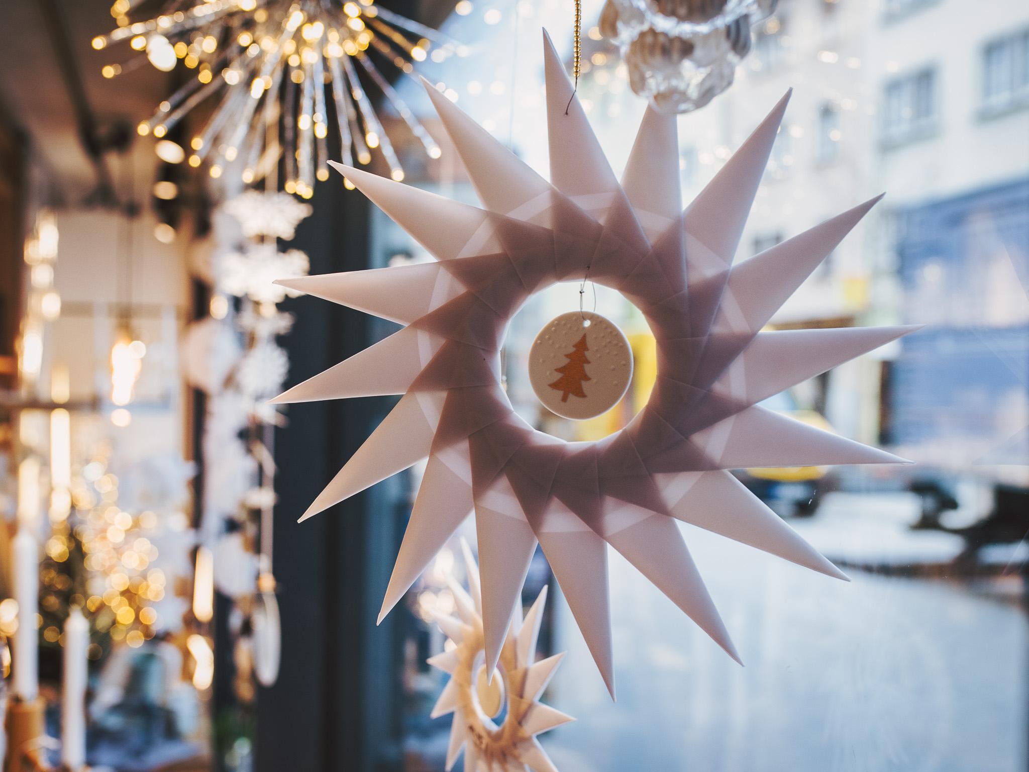 Weihnachtsstern für Fenster oder Wand. Foto: Pascal Höfig