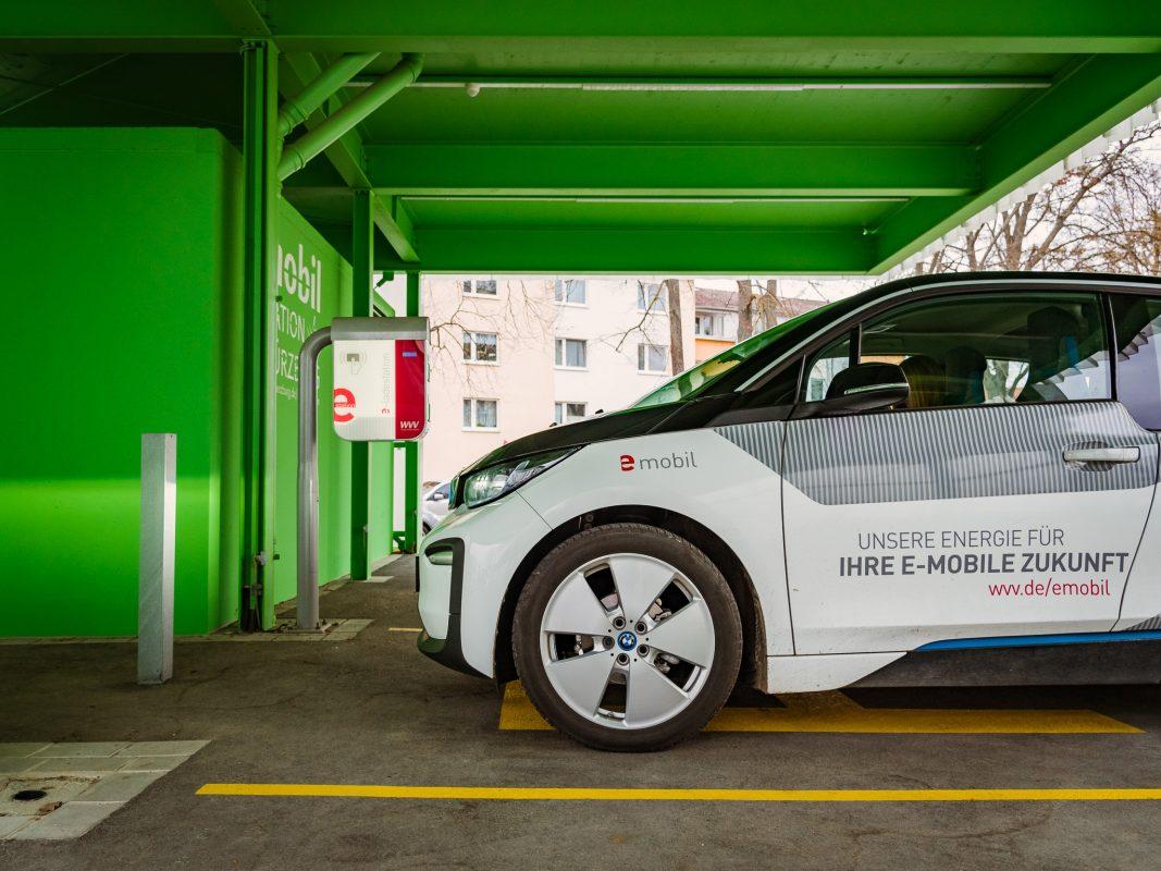 Mit dem E-Auto der WVV zukunftsorient und umweltbewusst fahren. Foto: Pascal Höfig