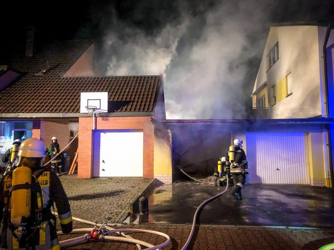 Brand in Marktheidenfeld. Foto: Benedict Rottmann / Feuerwehr Marktheidenfeld