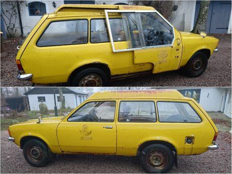 Einer der letzten Opel Kadett Caravans, die es noch gibt, wird nun restauriert. Foto: Oliver Müller