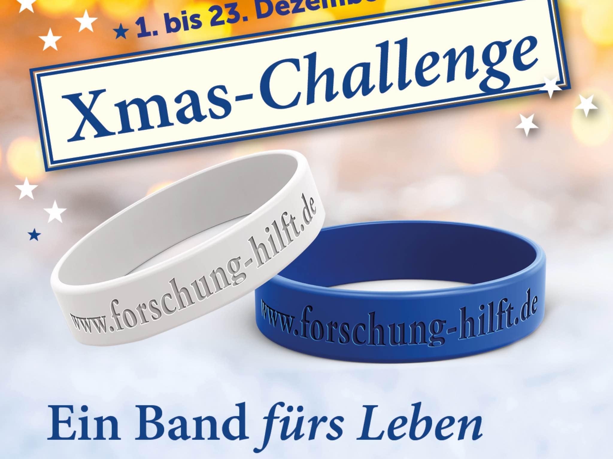 Die Xmas Challenge von Forschung versucht Spenden in der Weihnachtszeit zu gewinnen. Foto: Forschung hilft/Gabriele Nelkenstock