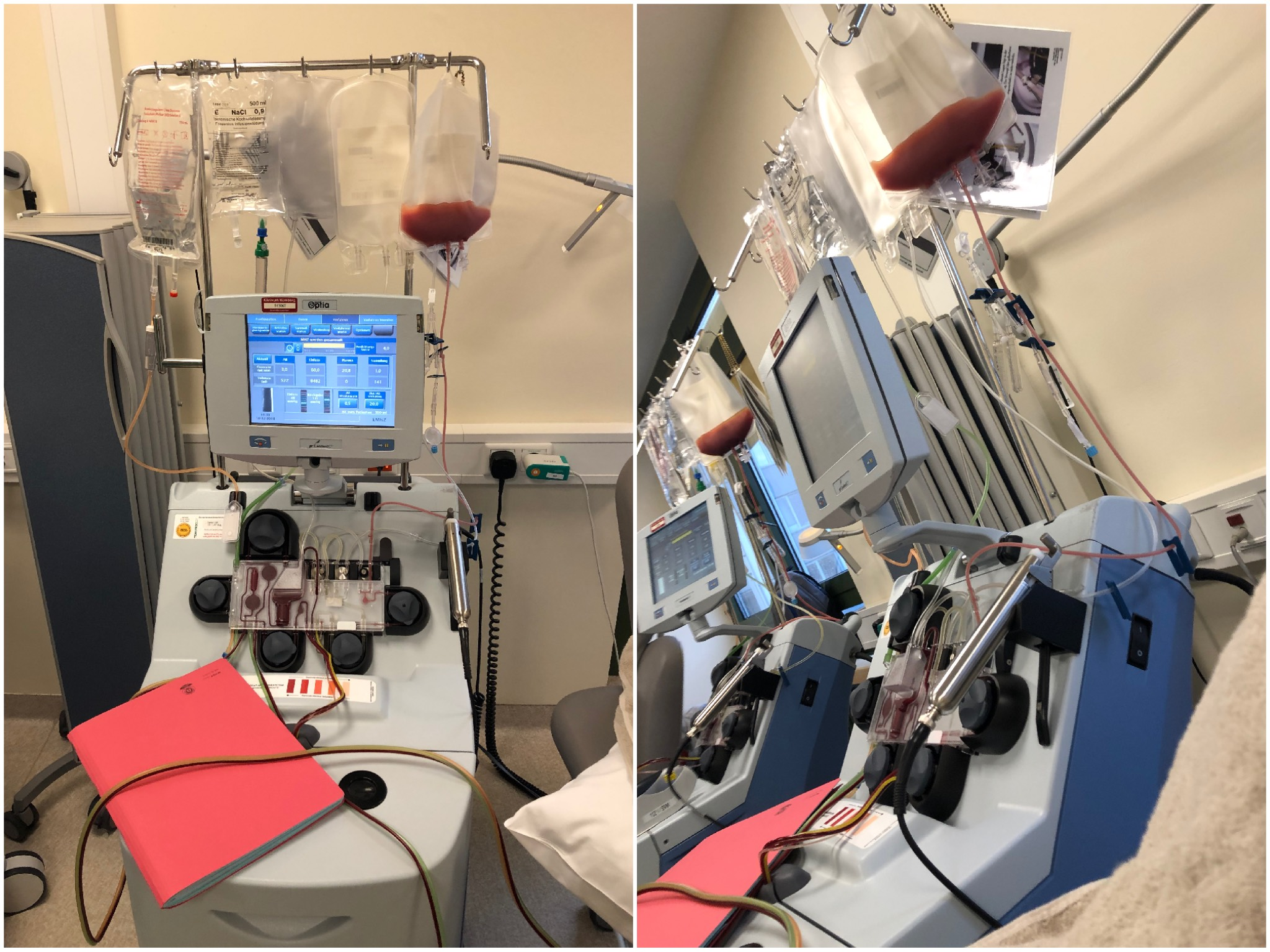 So sah es bei Marvin's Stammzellspende im Klinikum Nürnberg aus. Foto: Marvin Herrmann