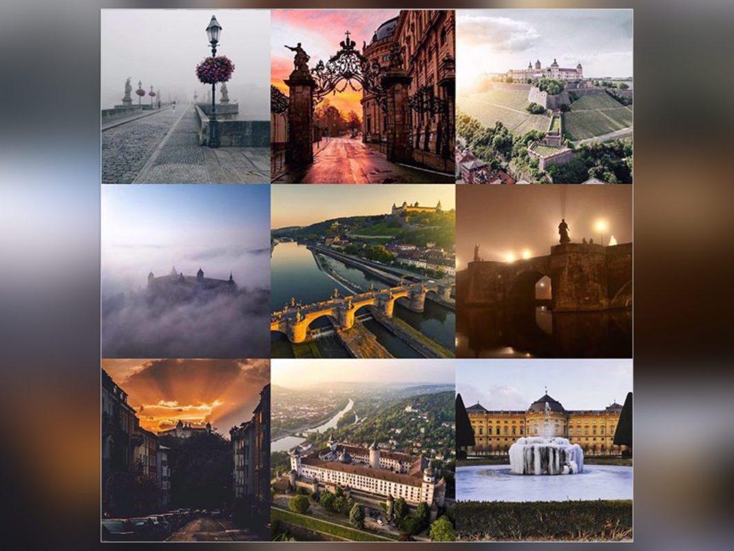 Best of Insta 2018. Eure beliebtesten Fotos unseres wuerzburglieben Instagram Accounts. Collage: www.instagram.com/wuerzburglieben