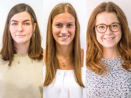 Eva-Maria, Johanna & Sarah: Praktikantinnen bei Würzburg erleben. Foto: Pascal Höfig