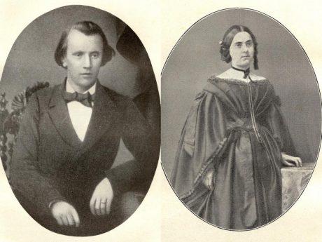 Johannes Brahms mit Verlobungsring und seine Jugendliebe Agathe von Siebold. Archiv: Willi Dürrnagel